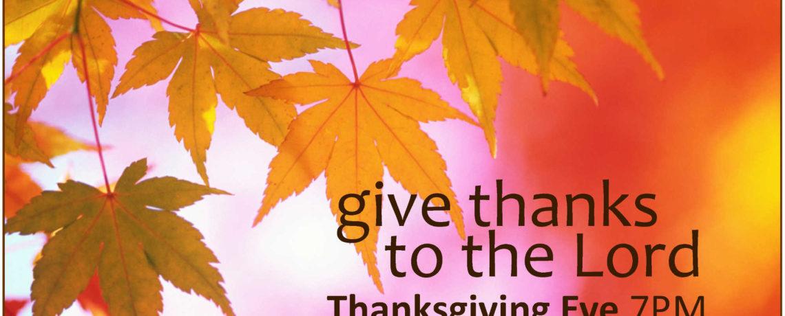 Community Thanksgiving Eve Worship & Pie Social