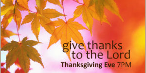 Community Thanksgiving Eve Worship & Pie Social