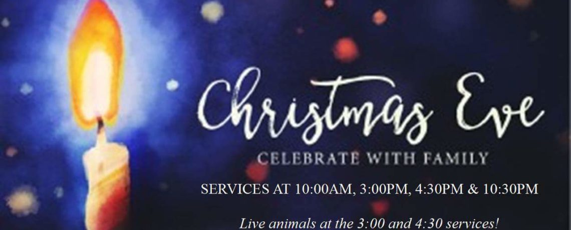 Join us for worship this Christmas Eve!