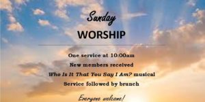 Join us for a special worship service this Sunday!