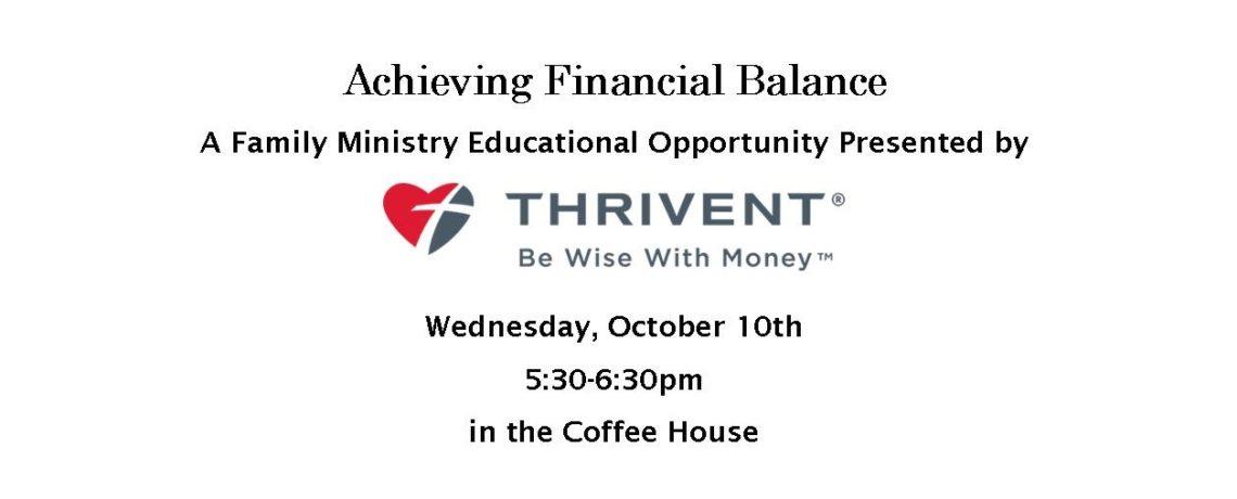 How do we achieve financial balance?