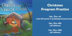 Christmas program practice