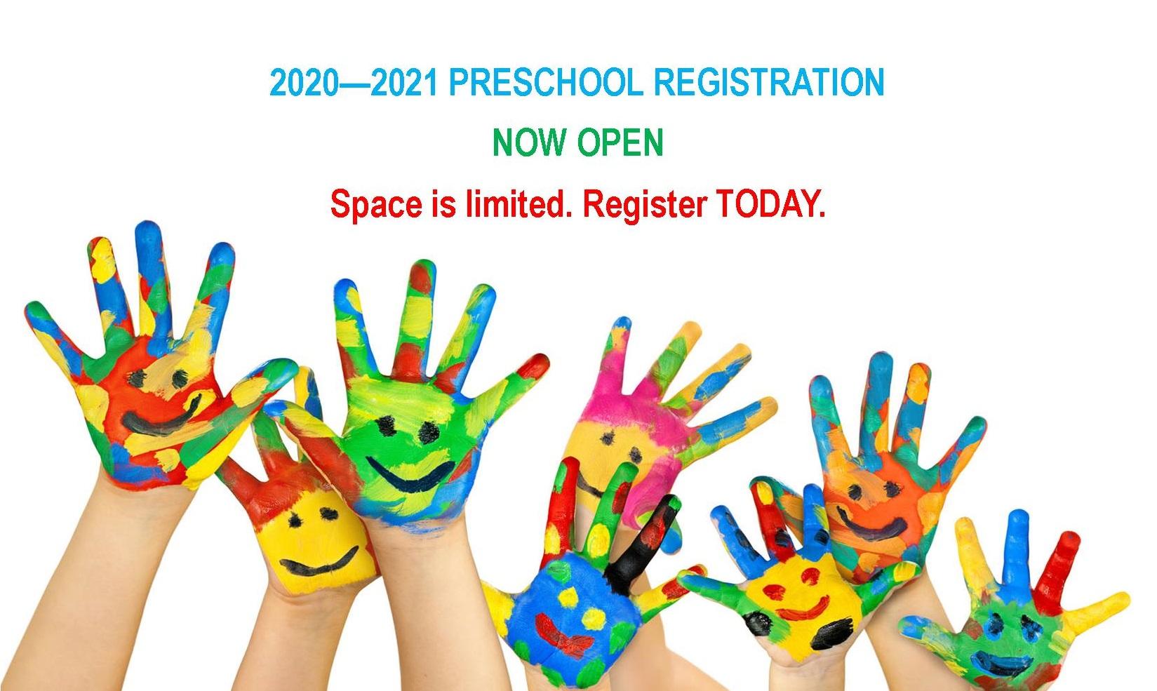 Register for Preschool 2020 – 2021