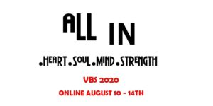 ALL IN! VBS 2020 (social distancing style)