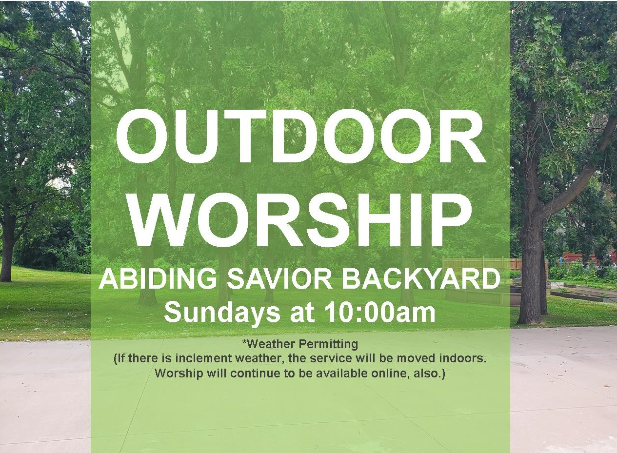 You're invited to outdoor worship