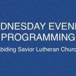 Wednesday evening programming